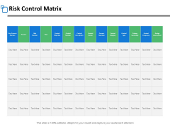 Risk Control Matrix Marketing Ppt PowerPoint Presentation Show Layouts