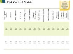 Risk Control Matrix Ppt PowerPoint Presentation Model Samples