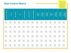 Risk Control Matrix Ppt PowerPoint Presentation Show Images