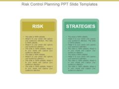 Risk Control Planning Ppt Slide Templates