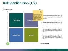 Risk Identification Template 1 Ppt PowerPoint Presentation Gallery Background Images