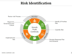 Risk Identification Template 1 Ppt PowerPoint Presentation Layouts Ideas
