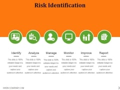Risk Identification Template 2 Ppt PowerPoint Presentation File Background Images