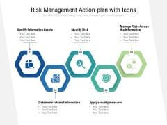 Risk Management Action Plan With Icons Ppt PowerPoint Presentation Model Layout Ideas