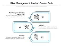 Risk Management Analyst Career Path Ppt PowerPoint Presentation Infographic Template Ideas Cpb