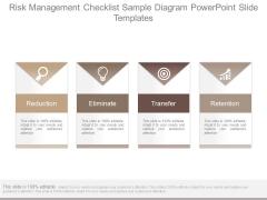 Risk Management Checklist Sample Diagram Powerpoint Slide Templates