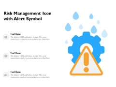 Risk Management Icon With Alert Symbol Ppt PowerPoint Presentation File Graphics Design PDF