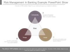 Risk Management In Banking Example Powerpoint Show
