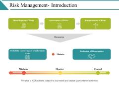 Risk Management Introduction Ppt PowerPoint Presentation Icon Design Inspiration
