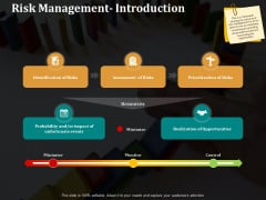 Risk Management Introduction Ppt PowerPoint Presentation Model Rules