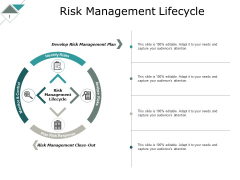Risk Management Lifecycle Ppt PowerPoint Presentation Ideas Graphic Tips