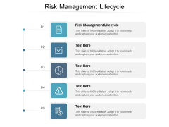 Risk Management Lifecycle Ppt PowerPoint Presentation Show Maker Cpb