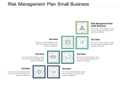 Risk Management Plan Small Business Ppt PowerPoint Presentation Icon Sample Cpb