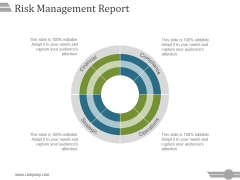Risk Management Report Template 1 Ppt PowerPoint Presentation Inspiration