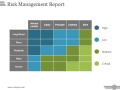 Risk Management Report Template 2 Ppt PowerPoint Presentation Show