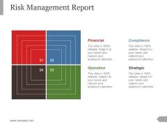 Risk Management Report Template 2 Ppt PowerPoint Presentation Slides