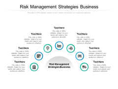 Risk Management Strategies Business Ppt PowerPoint Presentation Summary Brochure Cpb