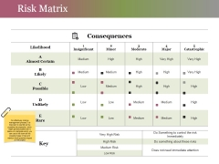 Risk Matrix Ppt PowerPoint Presentation Professional Ideas
