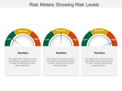 Risk Meters Showing Risk Levels Ppt PowerPoint Presentation Summary Example