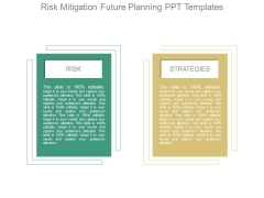 Risk Mitigation Future Planning Ppt Templates