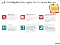 Risk Mitigation Strategies For Customer Service Ppt PowerPoint Presentation Infographic Template Example File