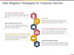 Risk Mitigation Strategies For Customer Service Ppt PowerPoint Presentation Pictures Slides