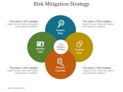 Risk Mitigation Strategy Ppt PowerPoint Presentation Show