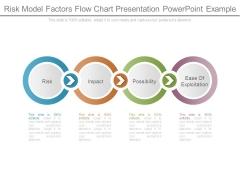 Risk Model Factors Flow Chart Presentation Powerpoint Example