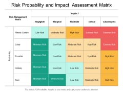 Risk Probability And Impact Assessment Matrix Ppt PowerPoint Presentation Slides Templates