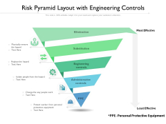 Risk Pyramid Layout With Engineering Controls Ppt PowerPoint Presentation Inspiration Introduction PDF
