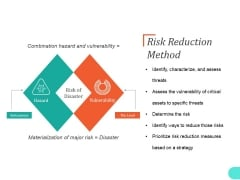Risk Reduction Method Ppt PowerPoint Presentation Pictures