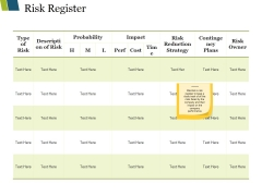 Risk Register Ppt PowerPoint Presentation Inspiration Rules