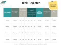 Risk Register Reduction Strategy Ppt PowerPoint Presentation Professional Layout