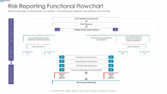 Risk Reporting Functional Flowchart Ppt PowerPoint Presentation Icon Structure PDF