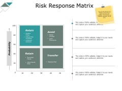Risk Response Matrix Ppt PowerPoint Presentation Professional Graphics Example