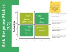 Risk Response Matrix Template Ppt PowerPoint Presentation Portfolio Infographic Template