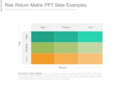 Risk Return Matrix Ppt Slide Examples
