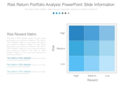 Risk Return Portfolio Analysis Powerpoint Slide Information