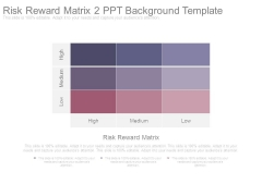 Risk Reward Matrix 2 Ppt Background Template