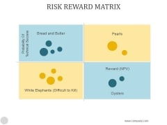Risk Reward Matrix Template1 Ppt PowerPoint Presentation Backgrounds