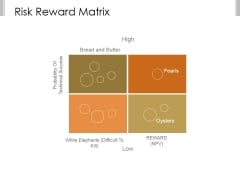 Risk Reward Matrix Template 1 Ppt PowerPoint Presentation Slide Download