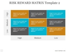 Risk Reward Matrix Template 2 Ppt PowerPoint Presentation Examples