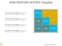 Risk Reward Matrix Template 2 Ppt PowerPoint Presentation Good