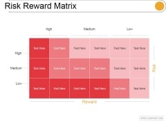 Risk Reward Matrix Template 2 Ppt PowerPoint Presentation Guidelines