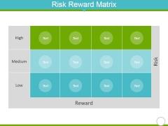 Risk Reward Matrix Template 2 Ppt PowerPoint Presentation Infographic Template Model