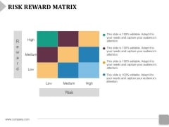 Risk Reward Matrix Template 2 Ppt PowerPoint Presentation Outline Brochure