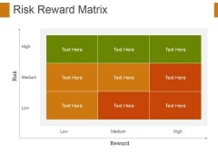 Risk Reward Matrix Template 3 Ppt PowerPoint Presentation Gallery Tips