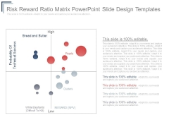 Risk Reward Ratio Matrix Powerpoint Slide Design Templates