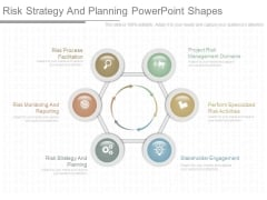 Risk Strategy And Planning Powerpoint Shapes