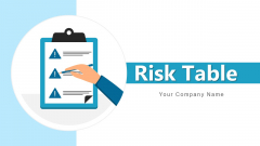 Risk Table Management Financial Ppt PowerPoint Presentation Complete Deck With Slides